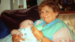 Mother with her first great grandchild, Levi